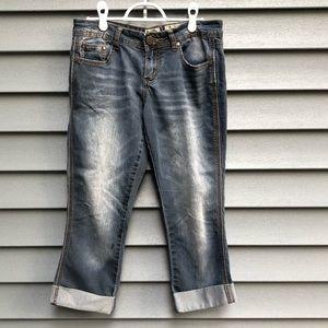 Indigo Rein Lightweight Capri Jeans